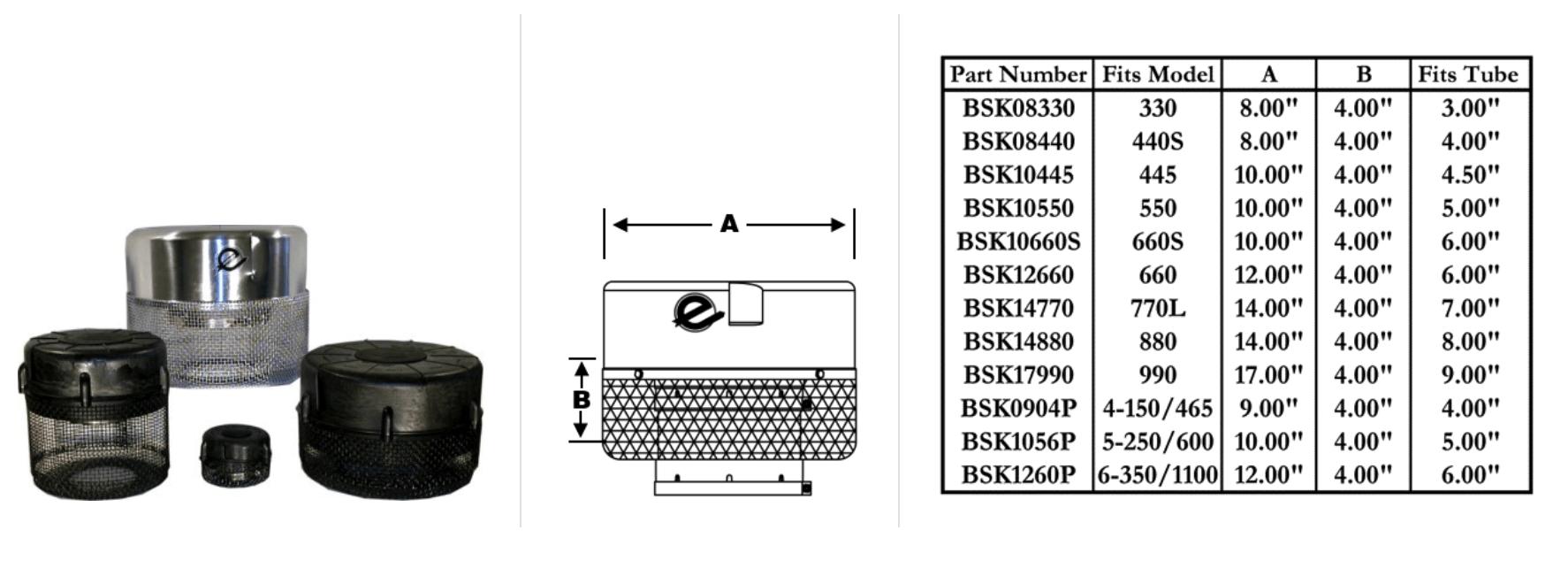 Precleaner screens.