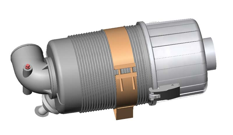 90° 3 Inch Inline Canister.