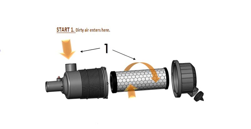 How Air Cleaners Work Step 1.