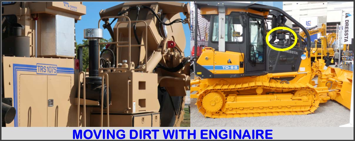 Moving dirt with enginaire.